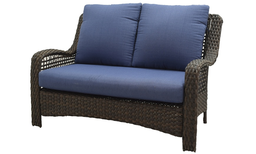 better homes gardens ravenbrooke 4 piece patio conversation set with cushions