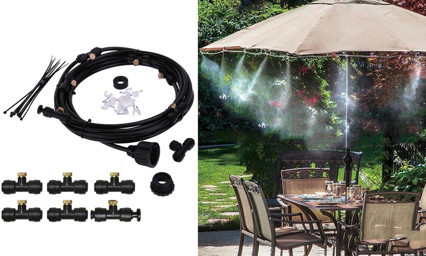 misting cooling system 19 6ft fan cooler patio garden water mister mist nozzles