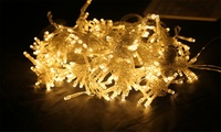 100 LED 10mStarry Fairy Waterproof String Lights for Indoor Outdoor   Exquisite string lights, Ehome 100 LEDs string lights, quality string lights with multi-purpose. Shop Decoration: Resturant, Bar,Balconyect. (Making an impression on customer)Festiavl Decoration: Halloween, Thanksgiving, Christmas ect. (Adding festive ambience)Home Decoration: Bedroom, Garden, Indoor Furnitures ect. (Making your home attractive)Various Occasions: Wedding, Birthday Party, Graduation Party, Marriage Proposal ect. (Creatinga romanticatmospheres)Specifications:Wire length:10m/33ftLED:100 pcs LEDsInput voltage:220VUsage life:50000hColor:Warm white,yellow,white,pink,purpleMode:8 mode(you can change mode by controller)100 LED 10mStarry Fairy Waterproof String Lights for Indoor Outdoor    warm white  100 LED 10mStarry Fairy Waterproof String Lights for Indoor Outdoor    Yellow  100 LED 10mStarry Fairy Waterproof String Lights for Indoor Outdoor    White  100 LED 10mStarry Fairy Waterproof String Lights for Indoor Outdoor    Pink  100 LED 10mStarry Fairy Waterproof String Lights for Indoor Outdoor    Purple