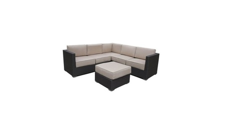 Abba Patio 4 Pcs All-Weather Outdoor Wicker Sofa Sectional Set Patio