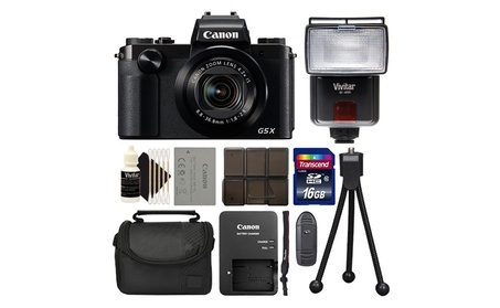 Canon PowerShot G5 X 20.2MP Digital Camera Black - Camera or + Bundle