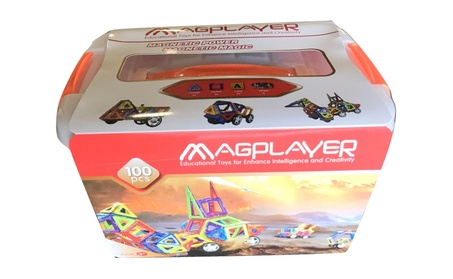Intelligent Magnetic Construction Set Magplayer blocks toys 100 pcs