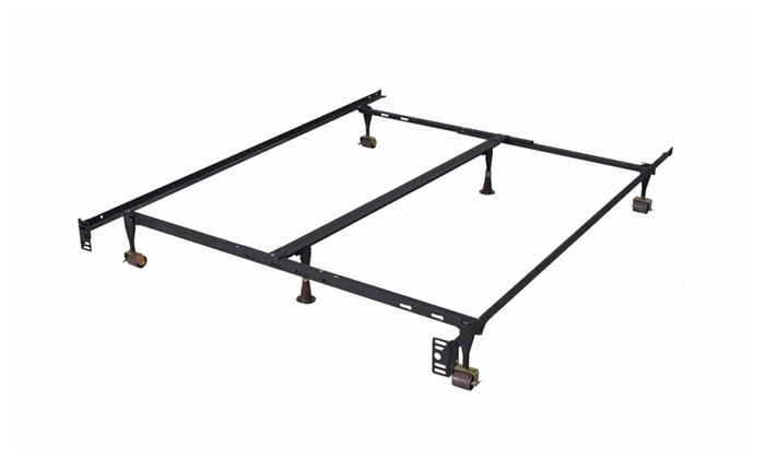 Up To 38 Off On Adjustable Metal Bed Frame Groupon Goods