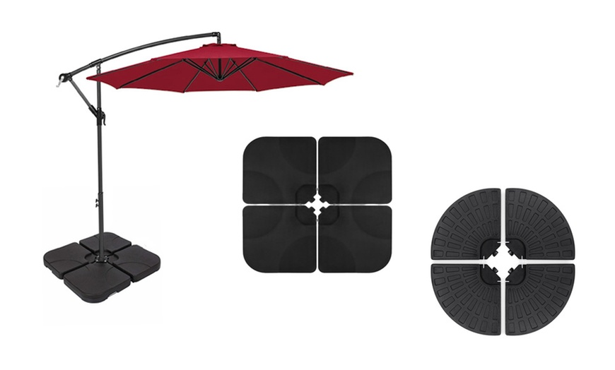 4 piece cantilever offset patio umbrella base stand