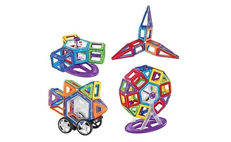 Intelligent magnetic 3D construction blocks tiles toy set of 198 pcs
