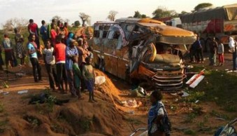 Image result for 26 people die in bus-tanker crash in Kenya