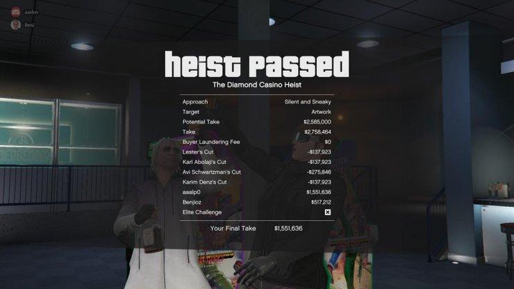 Diamond Casino Heist Ödeme Min