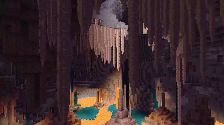 Minecraft Damlayan Taş Mağaraları