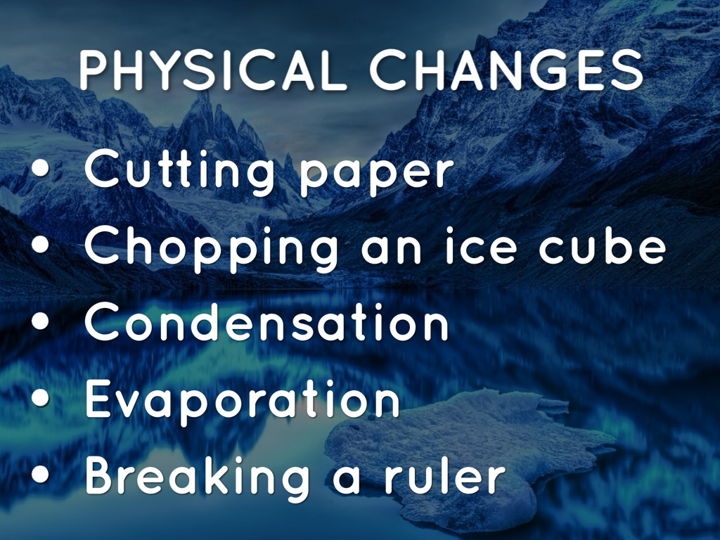 Physical Change Vs Chemical Change By Matt Herberg