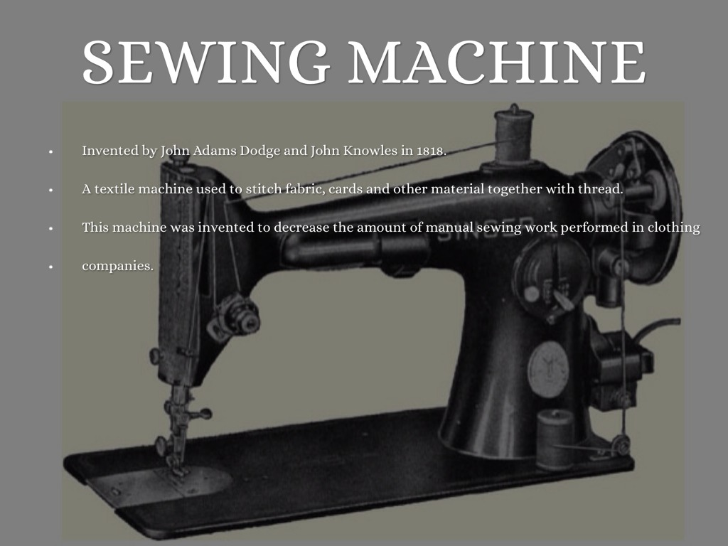 Sewing Machine Industrial Revolution The Impact Of The