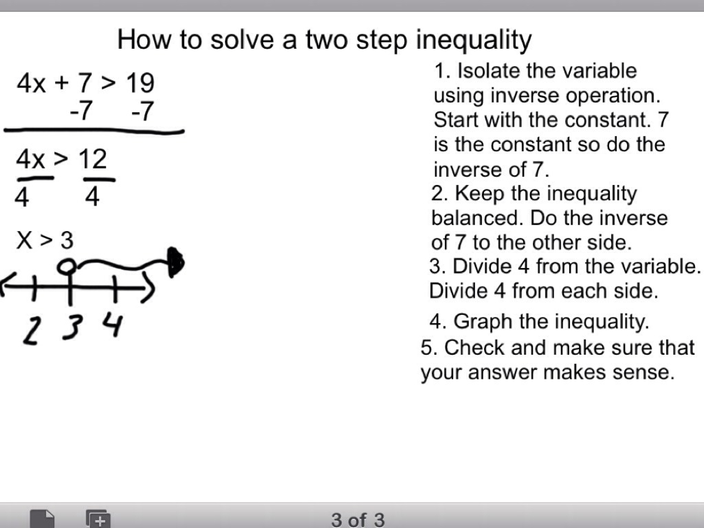 Solving Two Step Equations Notes