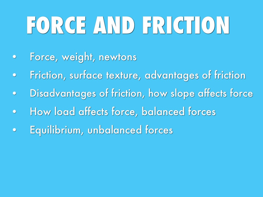 Force And Friction By Petersonroad