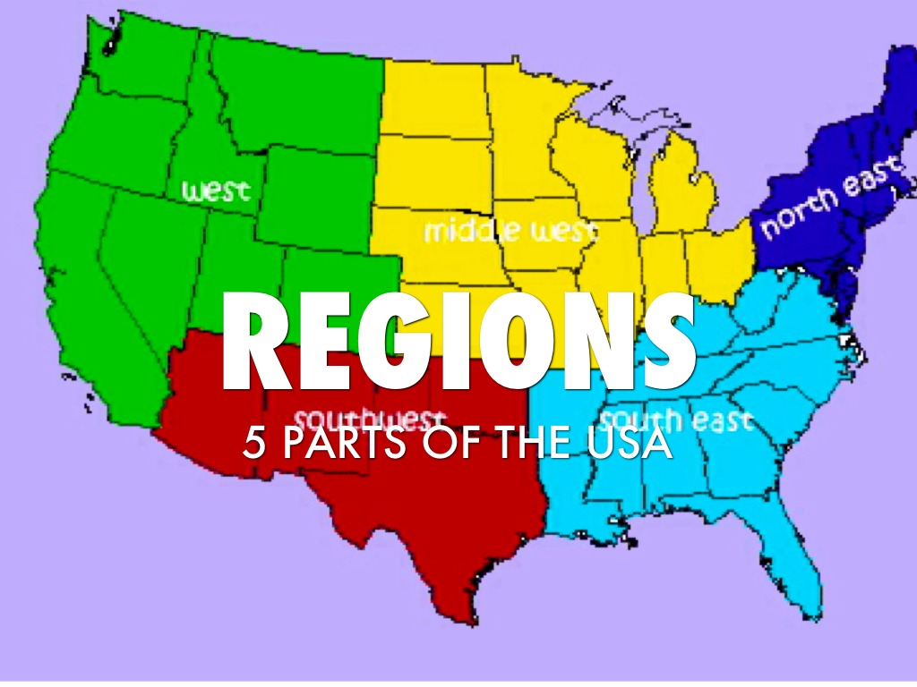 United States Regions By Dginther
