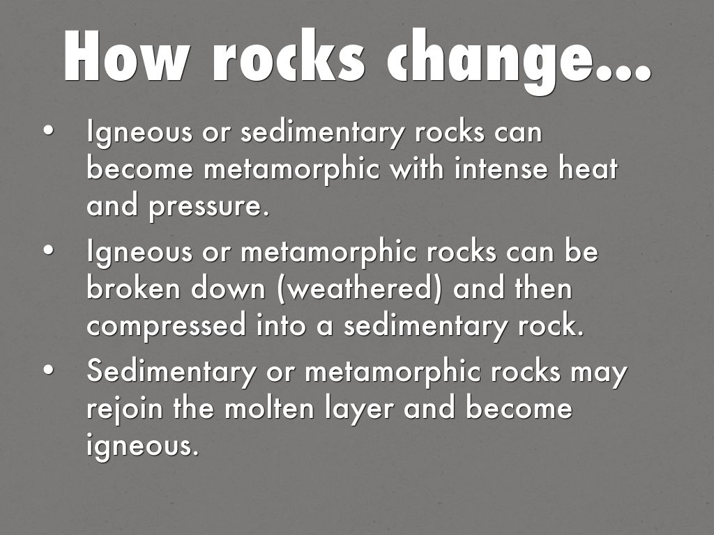The Rock Cycle By Karendmon