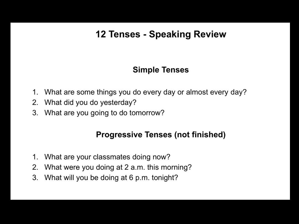 12 Tenses Blue Azar By A Faulkner
