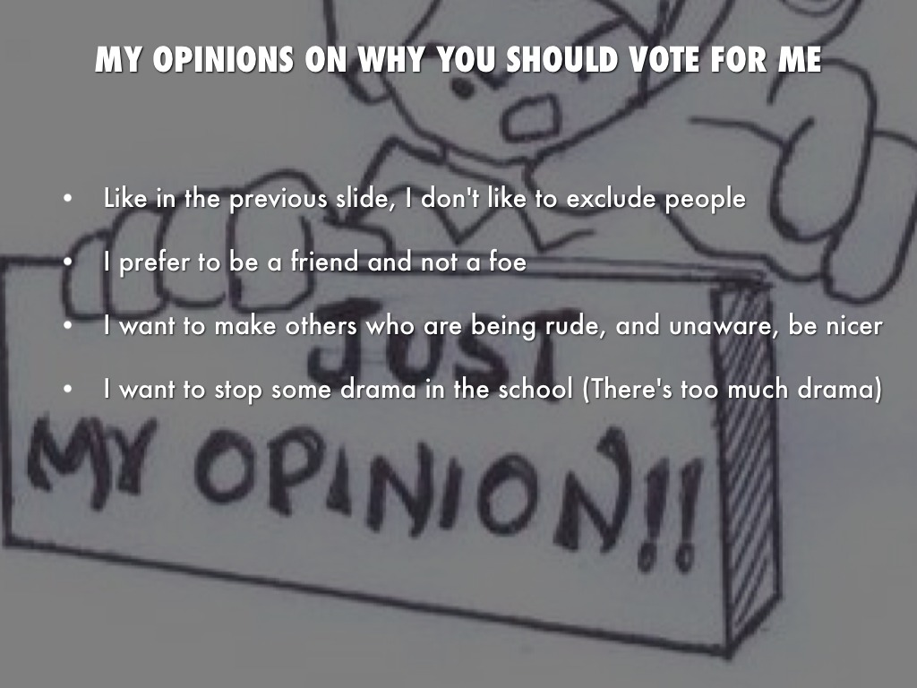 Why You Should Vote For Me By Cassandra Krahn