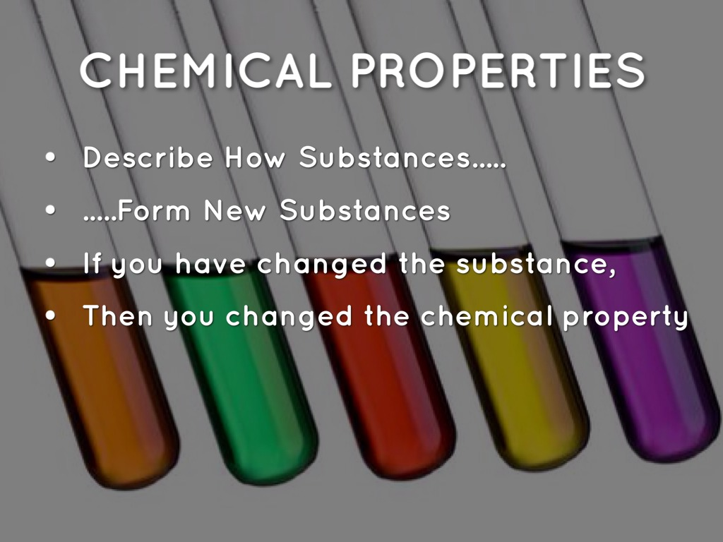 Chemical Changes Are They And How Substance Are And What Physical Used
