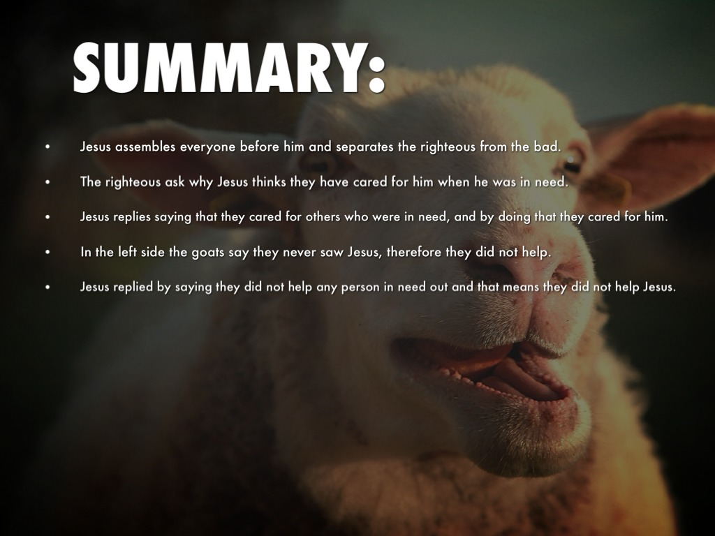 Parable Separating The Sheep From Goats By Favreauh17