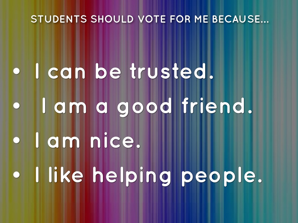 Student Council Application By Grace Benson