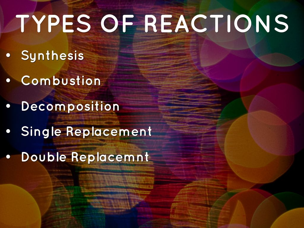 Chemical Reactions By Jmvincent