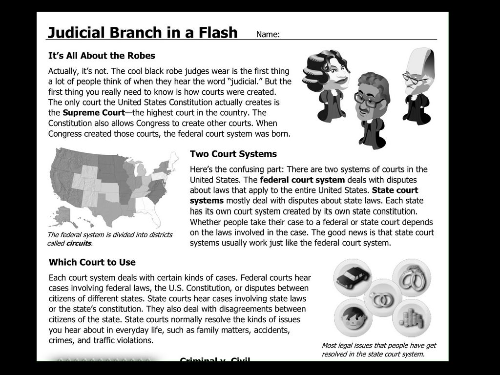 Judicial Branch Flash Making Comparisons Answers
