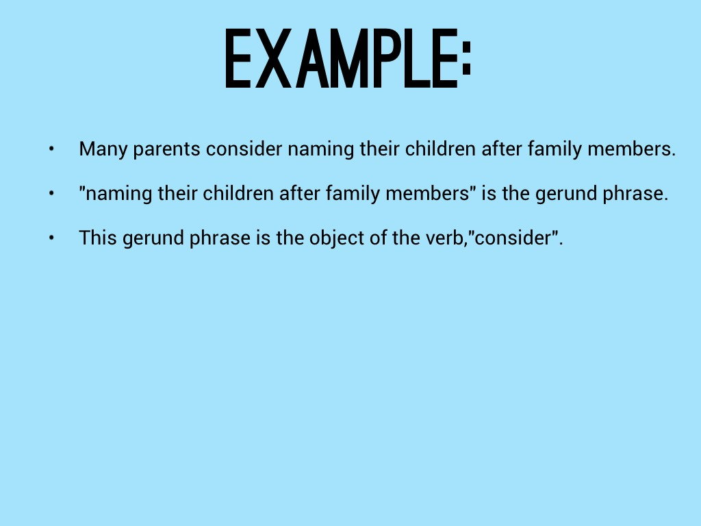 Gerund As A Direct Object By 15jmcm