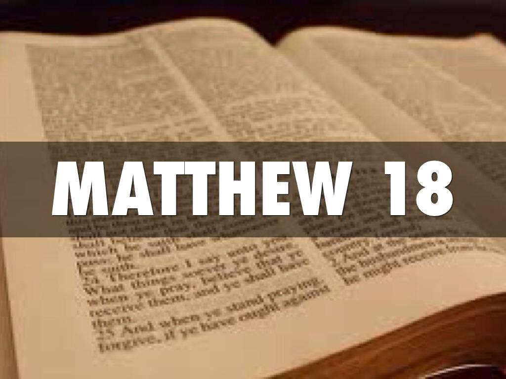 Matthew 18 By K Han