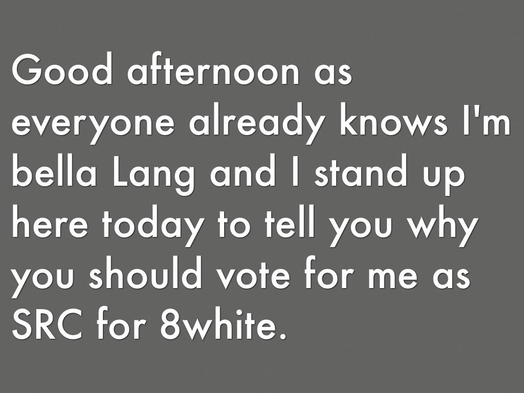Speech By Bella Lang