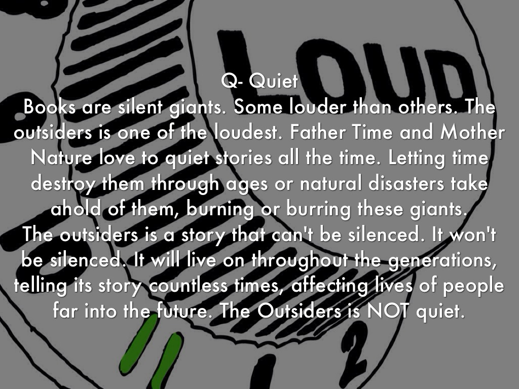 The Outsiders Chapters 5 8 I Q By Matthew G