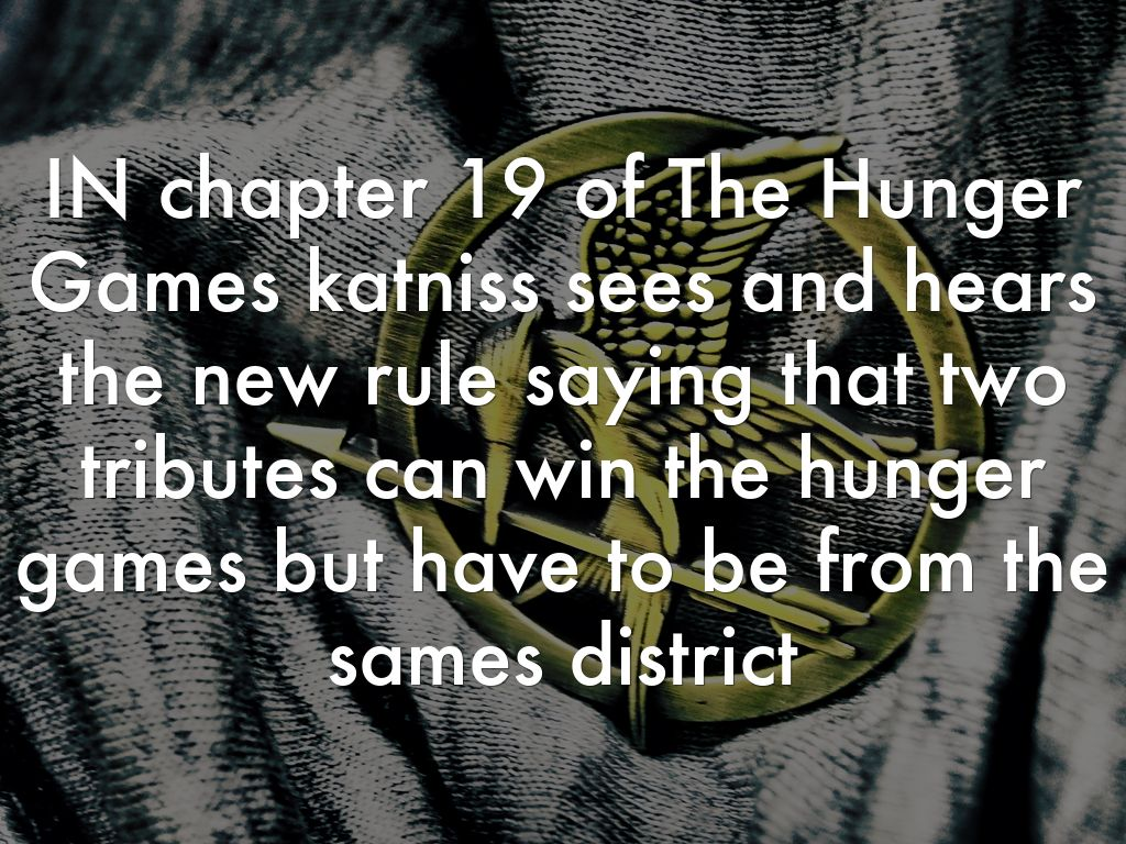 Chapter 19 Of The Hunger Games By Emanuel Padilla