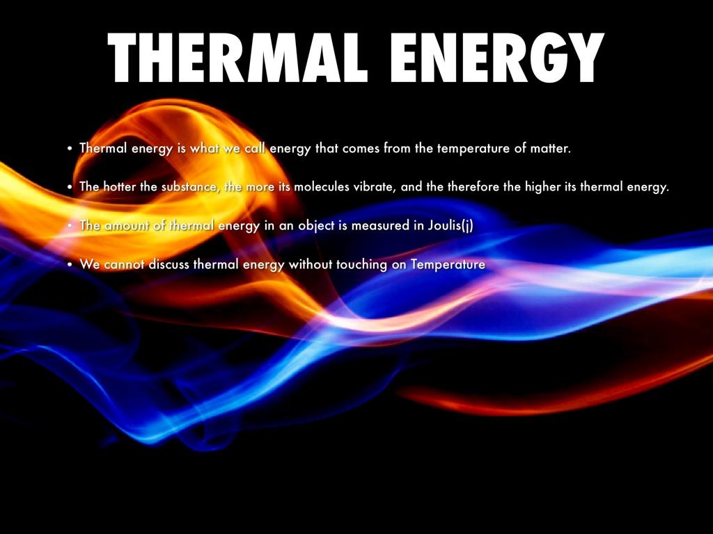 Thermal Energy By Nadia K