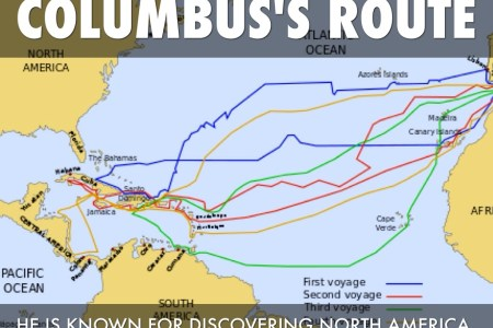 columbus first voyage route map » Full HD MAPS Locations - Another ...