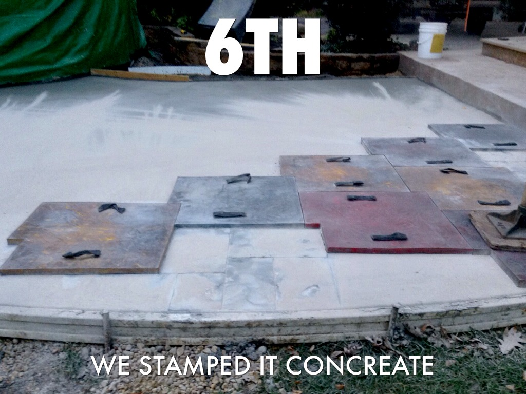 No Added Stamped Concrete Color