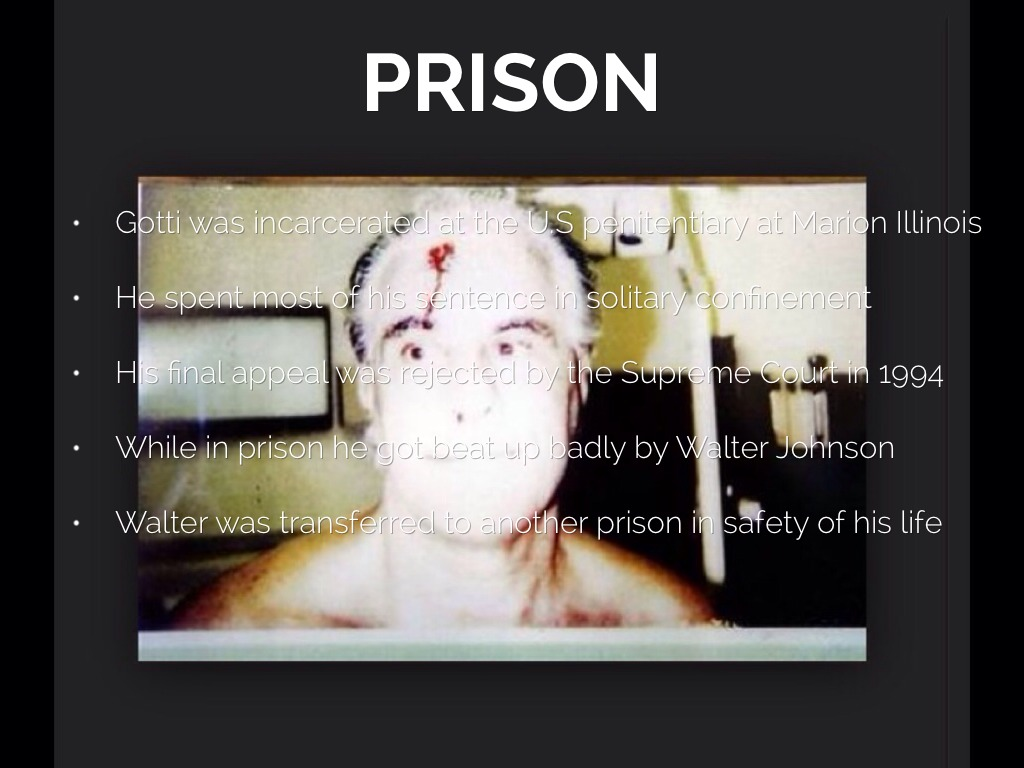 John Gotti Prison Beating