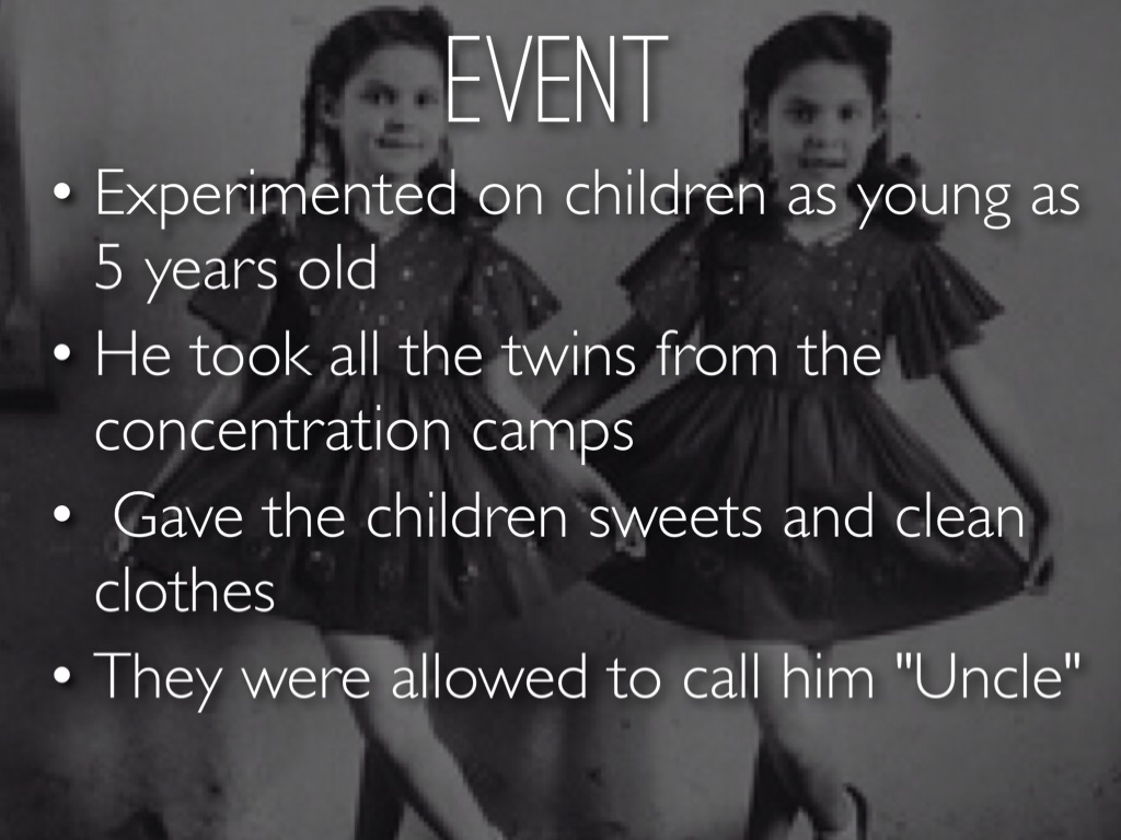 Josef Mengele Medical Experiments Twins