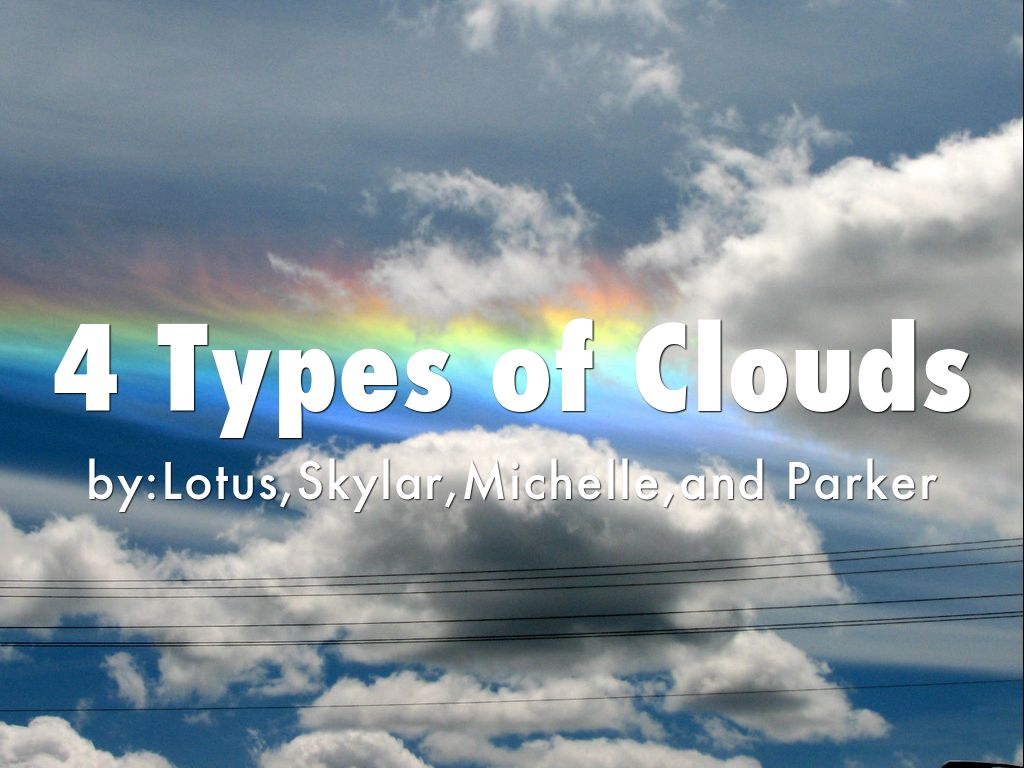 4 Types Of Clouds By Stansell S Class