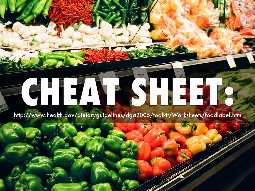A Quick Guide To Food Labels By Lisbethpp