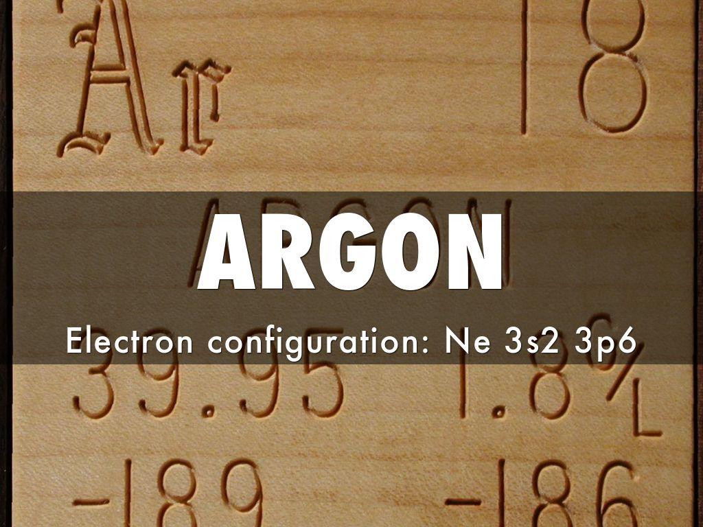 Argon Argon Electron Configuration