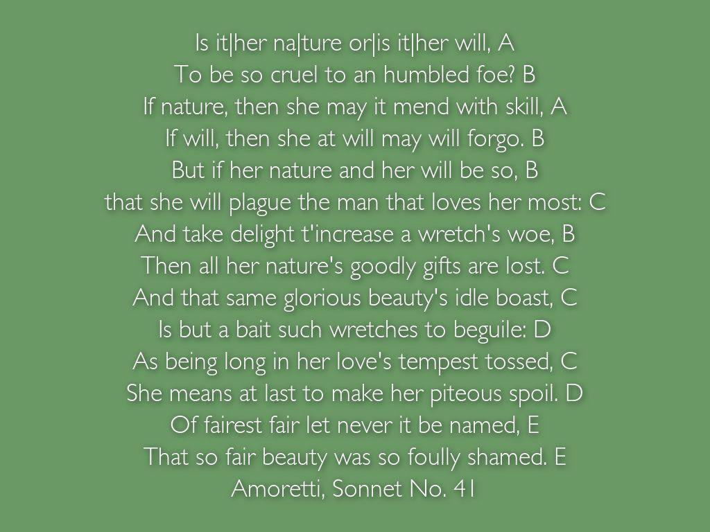 Poem With Abab Rhyme Scheme