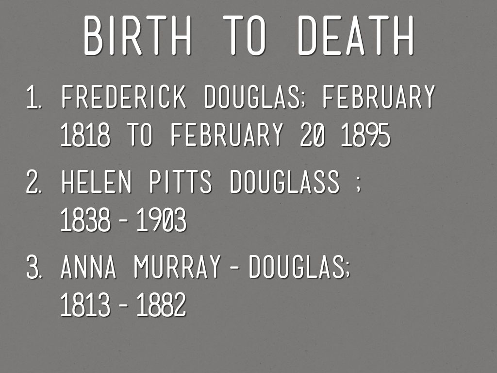 Frederick Douglass By