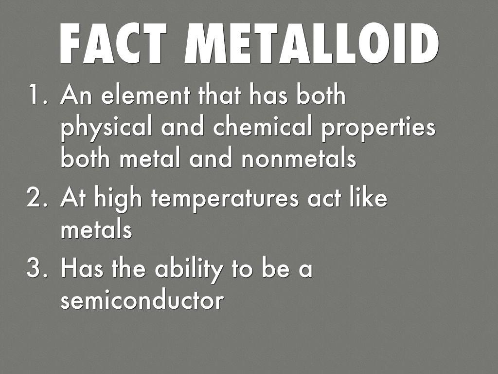 Metal Nonmetal Metaloids By Jacob Harney