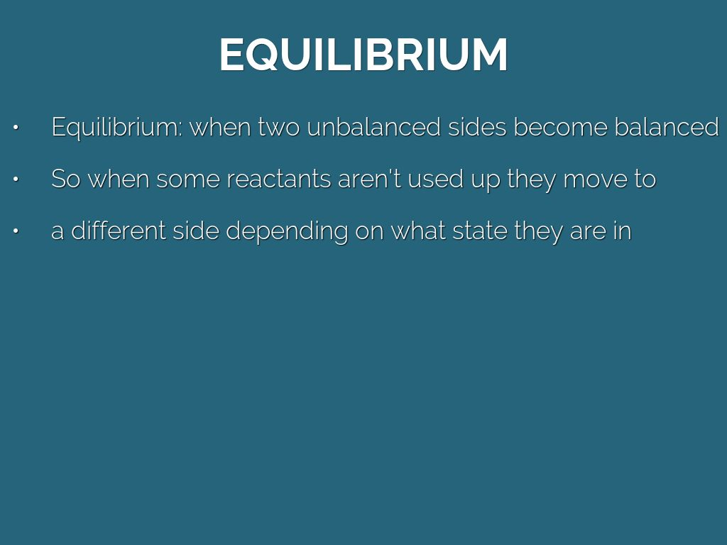 Reaction Rates Amp Equilibrium By Jwaters