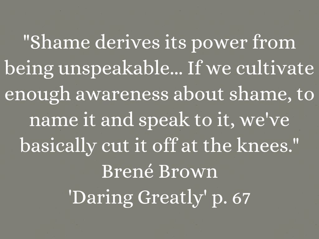 Daring Greatly Chapter Three Shame By Eithne Stover