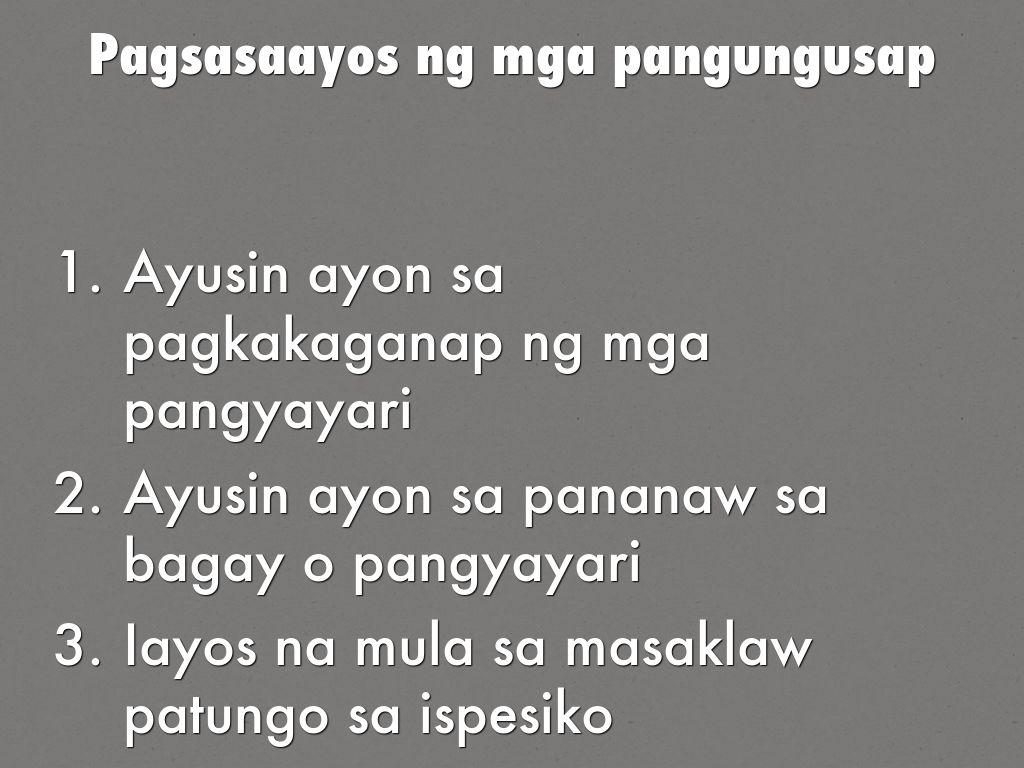 Talata Na May Paksang Pangungusap