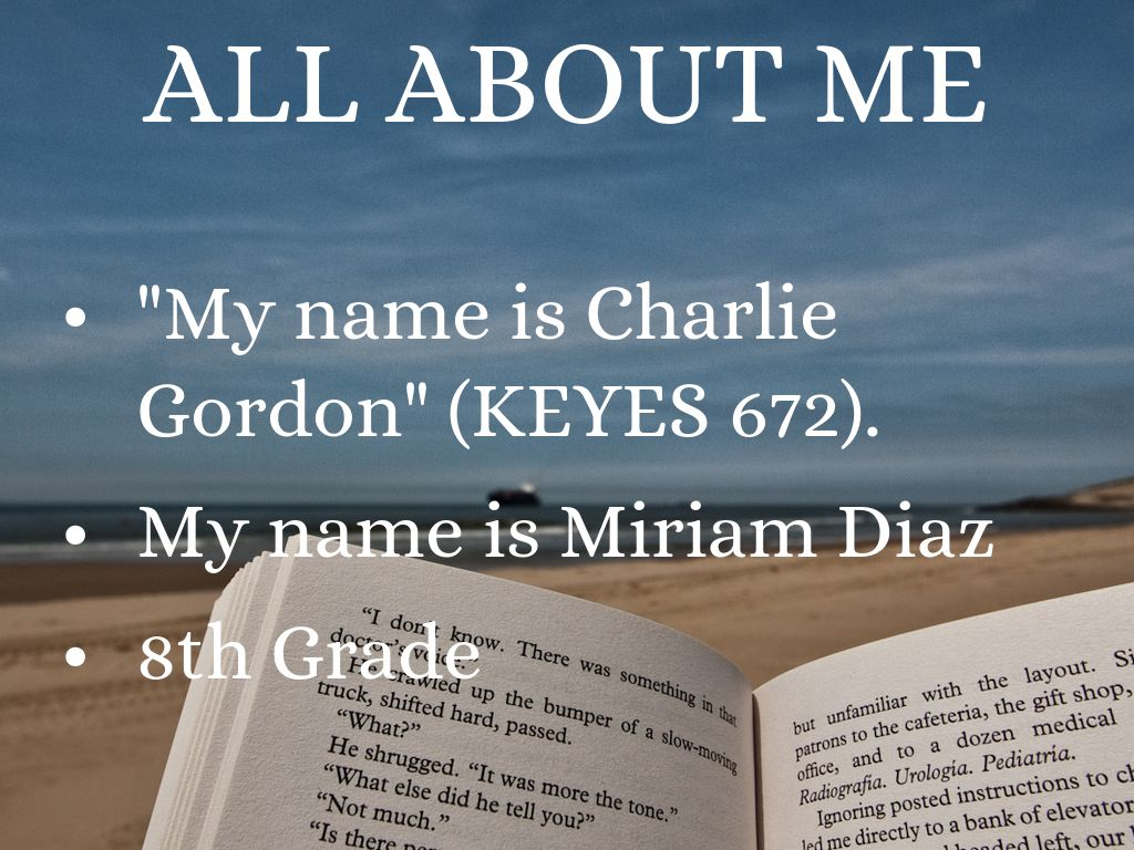All About Me English Project By Miriam Diaz