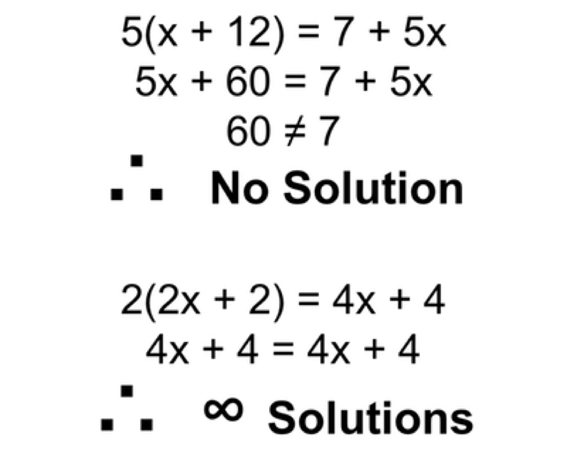 One Solution Equation Example