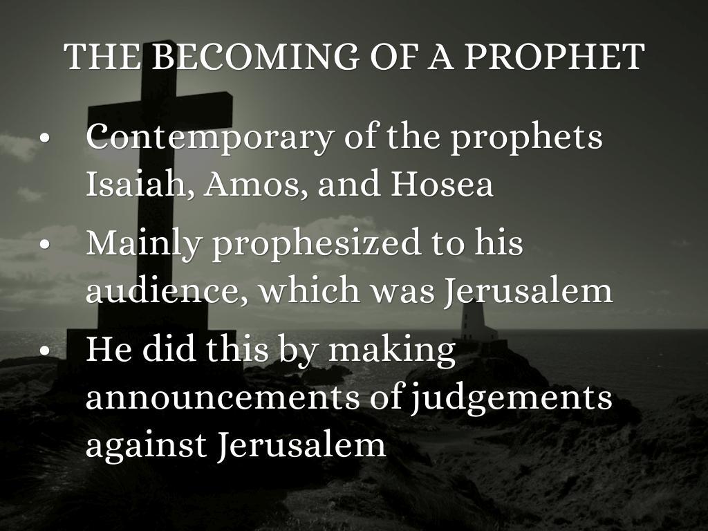Prophet Micah By Monse Cortes