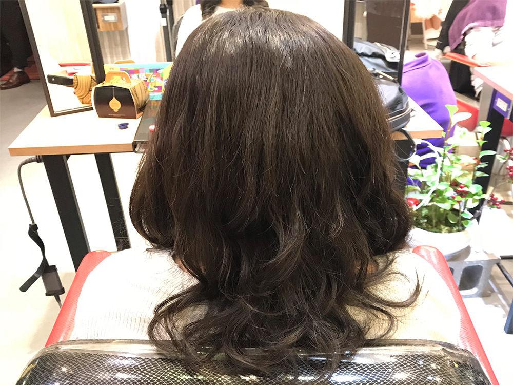 『韓系波紋捲髮』中長髮燙髮作品