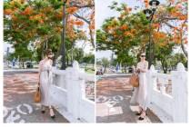 [穿搭]浪漫的散步在橘紅色的樹海裡,Sense Shop讓我遇見不一樣的自己!!!