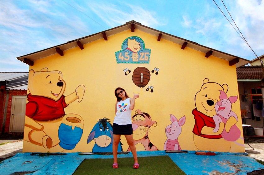 台南旅遊景點/下營小熊維尼彩繪村,不只有小熊維尼還有許多小時候有名的卡通彩繪